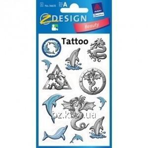Татуировки с дельфинами и драконами, код AVR00008