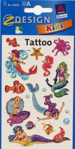 Татуировки с русалками, код AVR00008