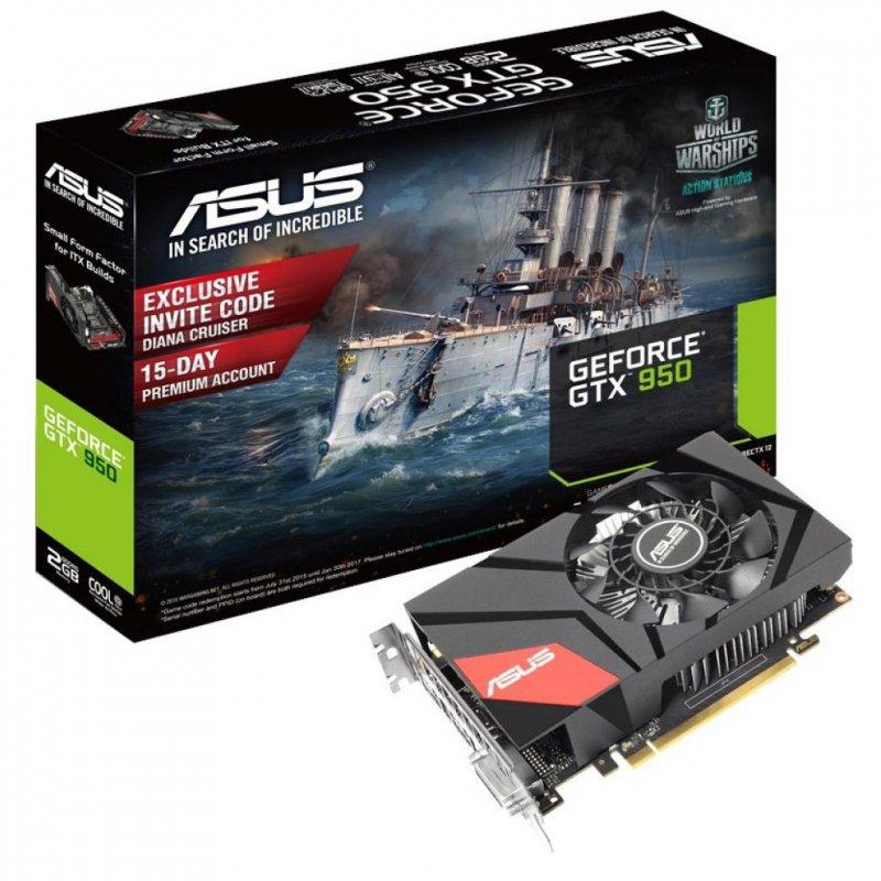 Купить Видеокарта ASUS GeForce GTX950 2048Mb MINI (MINI-GTX950-2G)