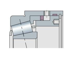 Подшипник конический с интегрированным механизмом регулировки натяжения, прецизионный