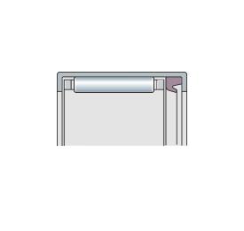 Подшипник игольчатый радиальный со штампованным наружным кольцом и 1 или 2 уплотнениями, метрический