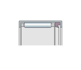 Подшипник игольчатый радиальный со штампованным кольцом и 1 или 2 уплотнениями, дюймовый