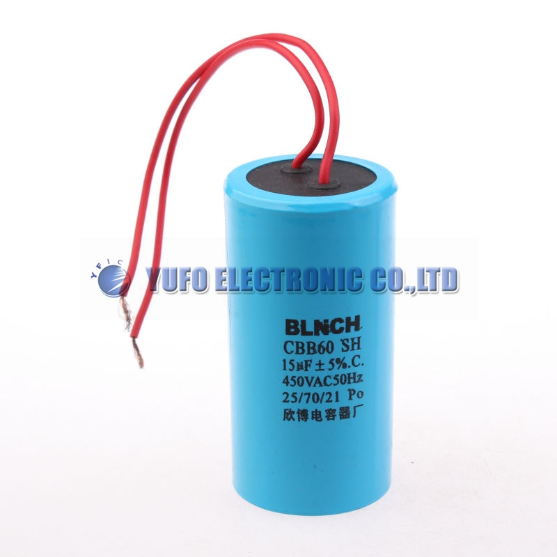 Пусковой конденсатор CBB-60 15 mkf - 450 VAC ±5%