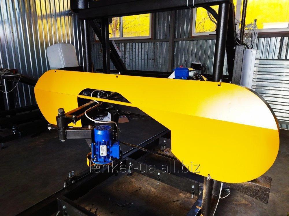 Ленточная пилорама 11 (15)кВт с ЧПУ и креслом оператора