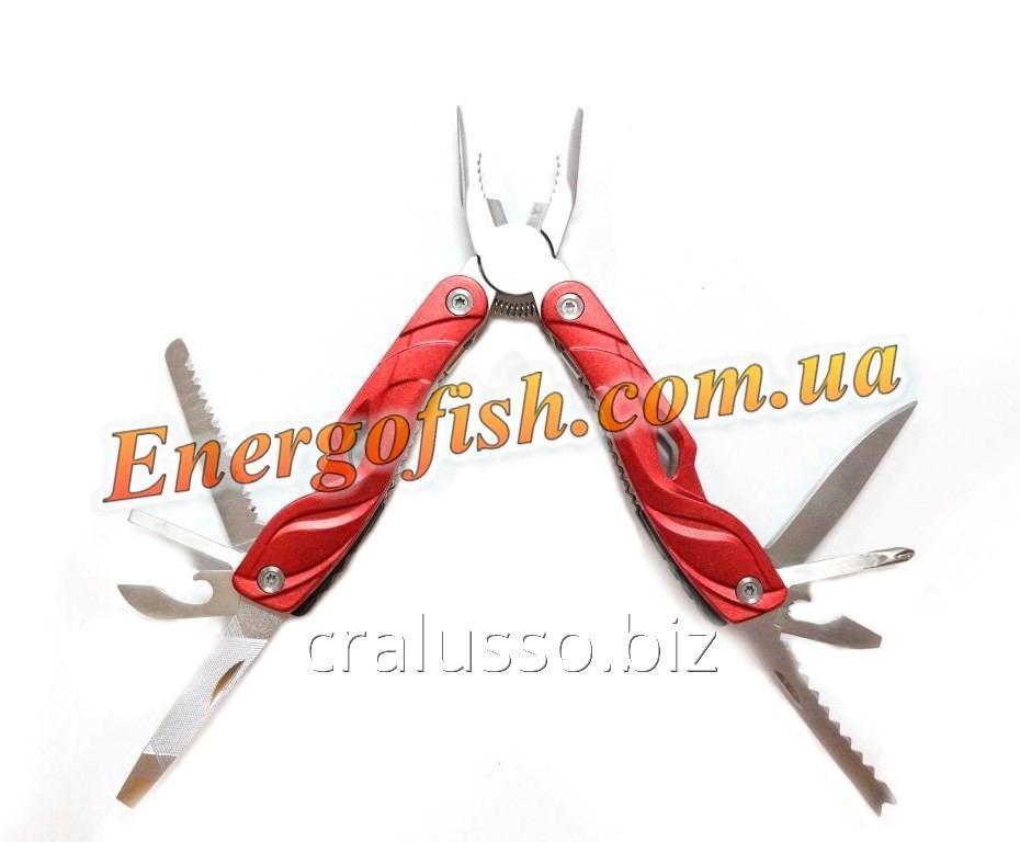 Мультитул (Плоскогубцы,нож,ключ,пилка,отвертки) 9 в 1 красный