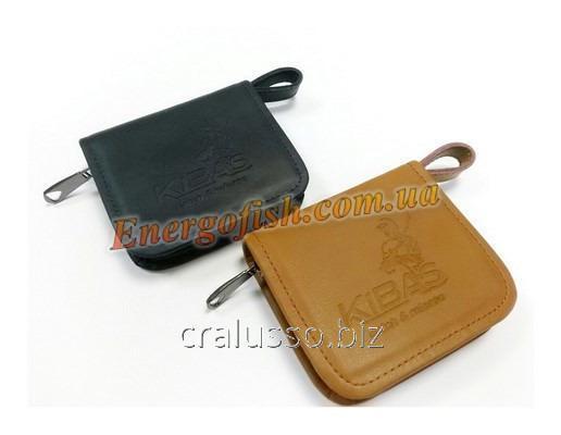 Buy Kibas purse for spinners dark blue skin of M 10kh19kh2.5sm