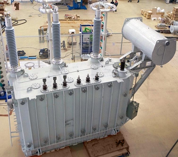 Трехфазный силовой трансформатор типа ТМН 110кВ