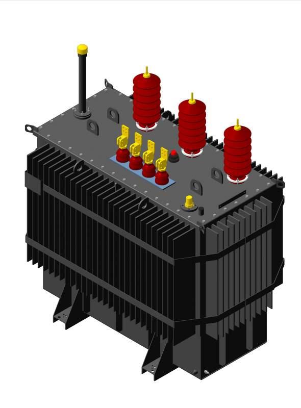Трехфазный силовой трансформатор типа ТМ, ТМГ, ТМЖ, ТМГЖ 27,5-35кВ