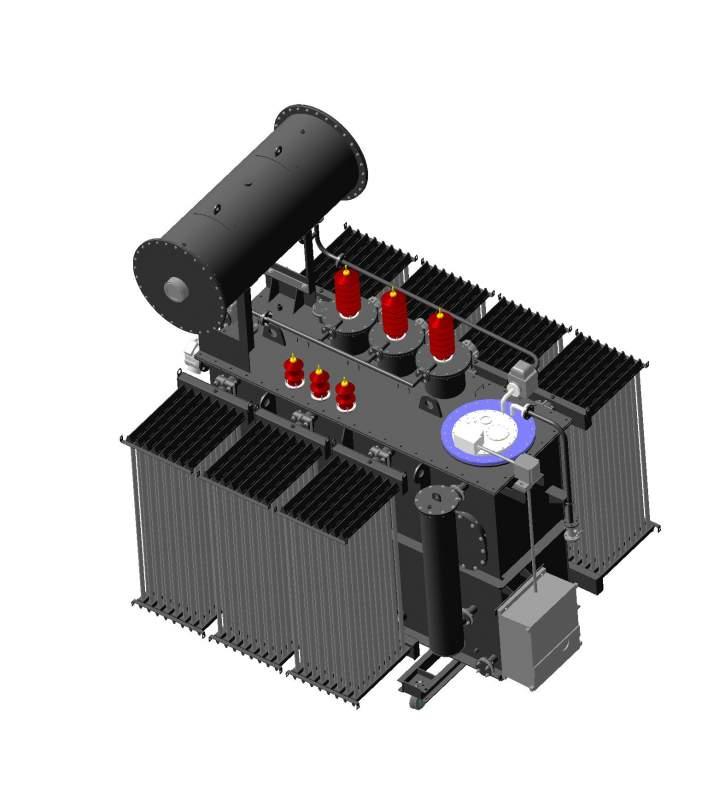 Трехфазный силовой трансформатор типа ТМН 27,5-35кВ