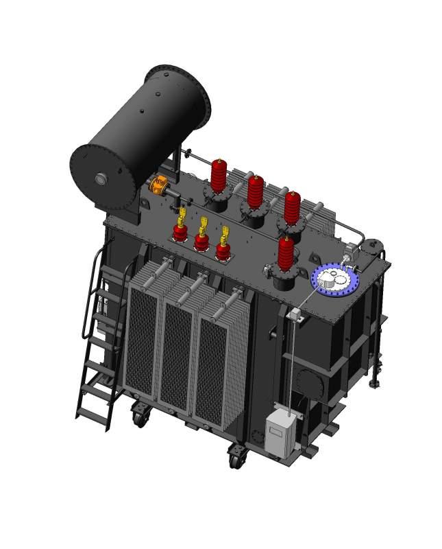 Трехфазный силовой трансформатор типа ТД, ТДН(С), ТРДН(С) 27,5-35кВ