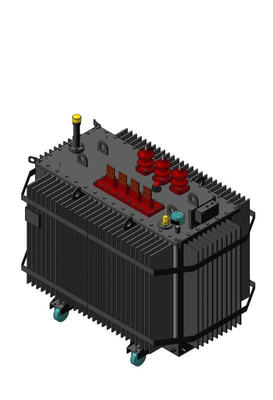 Трансформатор трехфазный двухобмоточный с симметрирующим устройством типа ТМГСУ