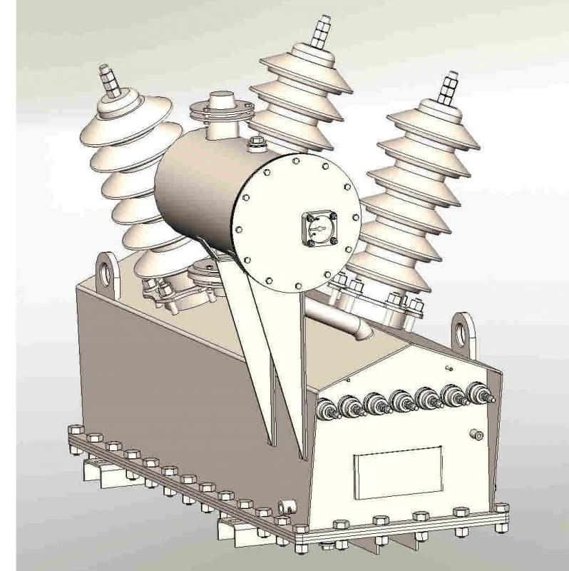 Трансформатор напряжения масляный трехфазный типа НАМИ 35 кВ