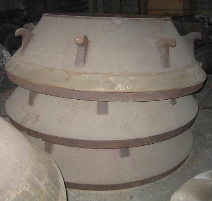 Armor to conical crushers of all types of armor for crushers of KMD, KSD