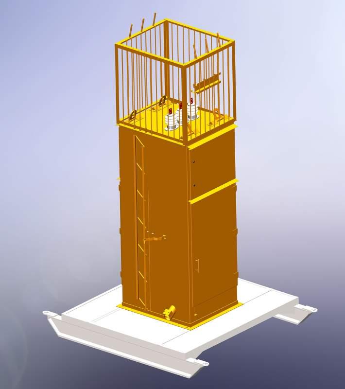 Ячейка комплектной установки отдельно стоящая ЯКНО (ПККЗ) 6-10 кВ