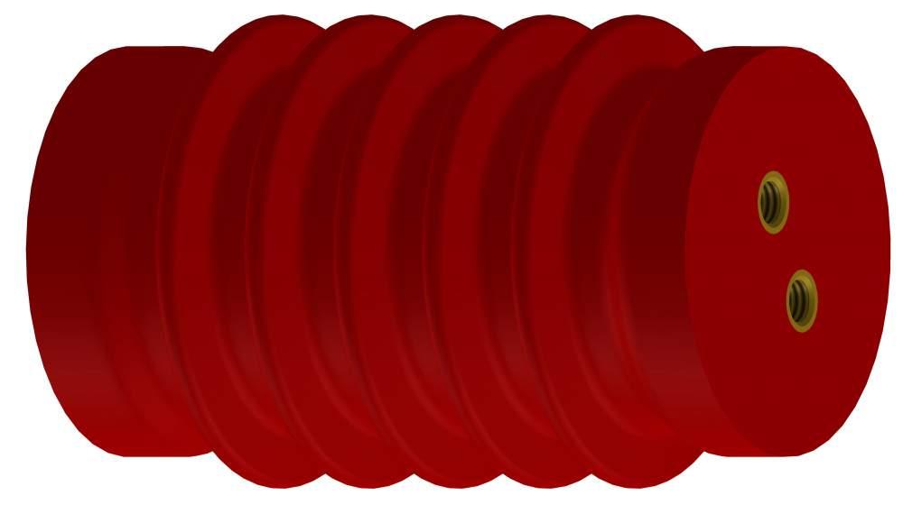 Изолятор полимерный опорный ИОЛэл-10(120)-8 УХЛ2 1х16-2х10(23), ИОЛэл-10(120)-5 УХЛ2 1х12-2х8(18)