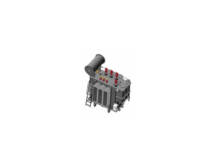 Трехфазный силовой масляный трансформатор типа ТДТН (27,5-35 кВ)