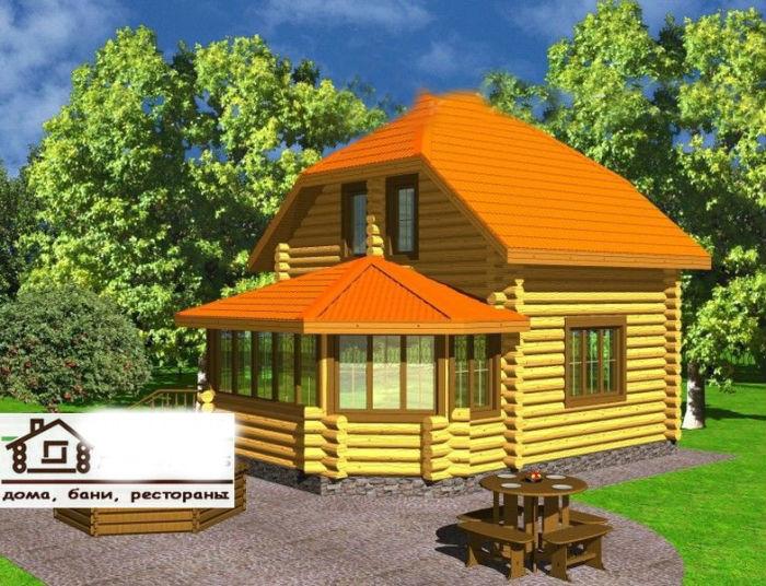 Дом из натурального дерева 78 м2