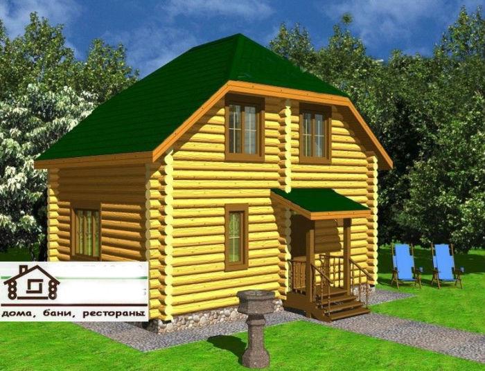 Готовый дом со сруба площадью 82 м2