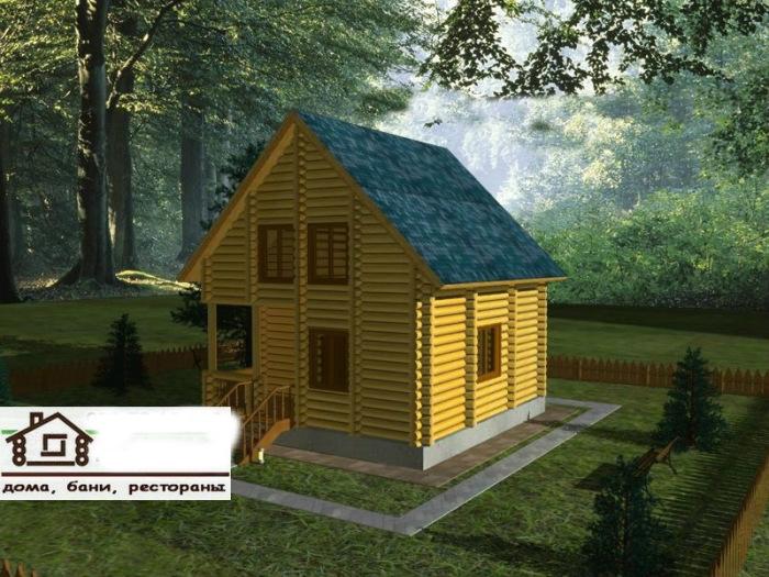 Проект дома площадью 83 м2
