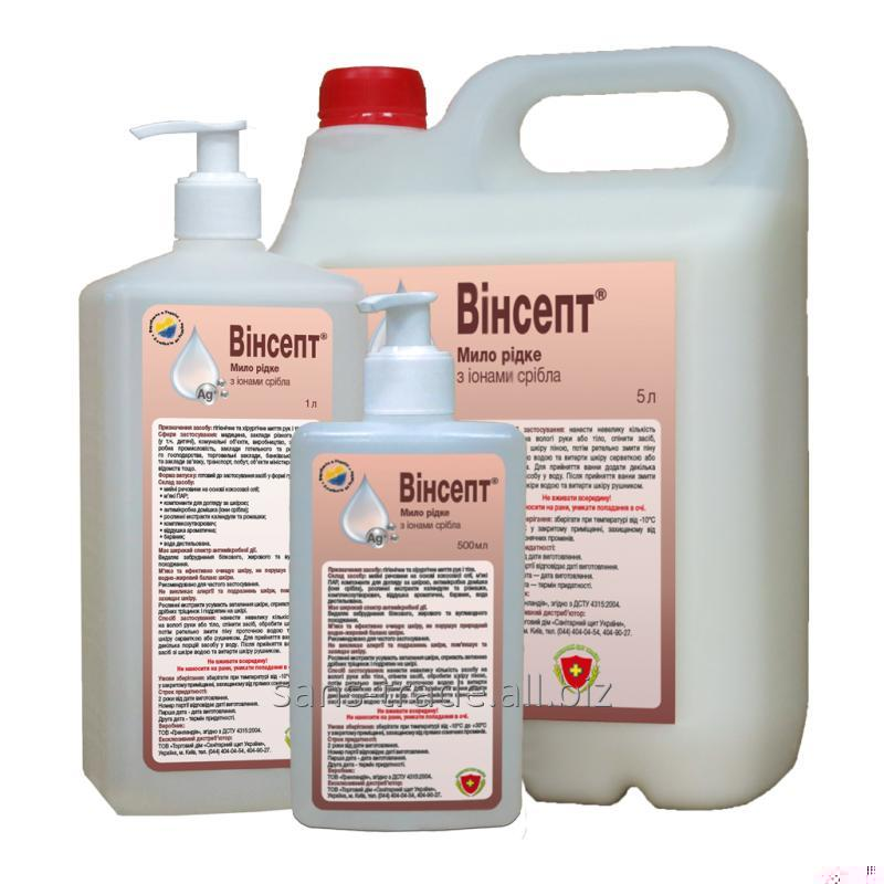 Liquid soap with ions of silver of Vinsept, 1 l with the batcher