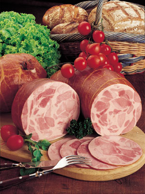 Functional additives for ham in cover and smoked products. Fragrances identical to natural