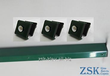 Столб 2.0м 60х40мм Стандарт крепления в комплекте код PZS-01
