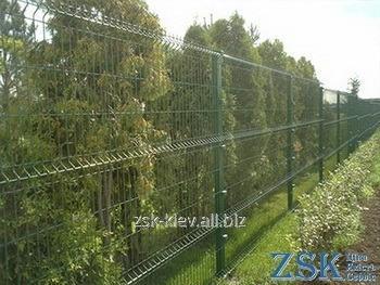 Забор из сварной сетки с ППЛ покрытием высотой 2.4м Секция КЛАССИК код STK-06