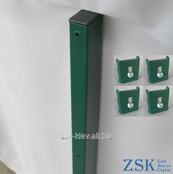 Столб 2.0м 60х40мм Классик крепления в комплекте код PTK-02