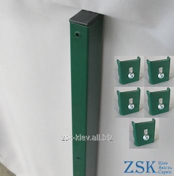 Столб 2.5м 60х40мм Классик крепления в комплекте код PTK-04
