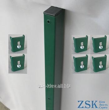 Столб 3.0м 60х40мм Классик крепления в комплекте код PTK-05