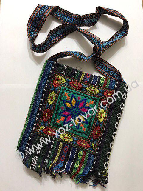 Handbag with an embroidery, piece.