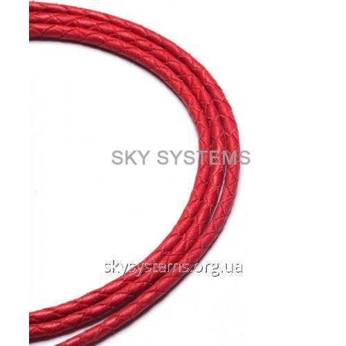 Кожаный плетеный шнур | 2,5 мм, Красный | SKY Австрия