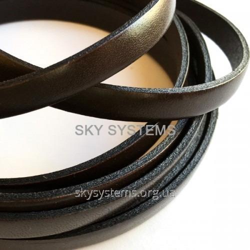 Плоский кожаный шнур | 8,0 x 2,0 мм, Цвет: Коричневый (Испания)