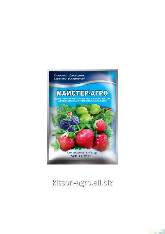МАЙСТЕР® - АГРО  для ягодных культур Комплексное минеральное удобрение;  Водорастворимое удобрение, Удобрение для корневого питания;