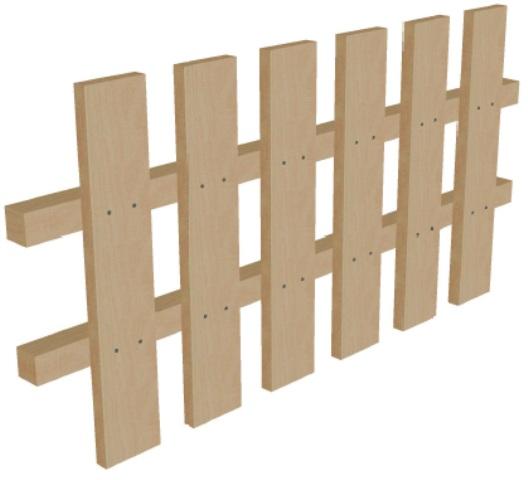 Забор деревянный высота 50 см