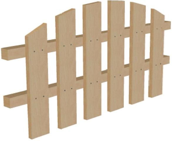Забор декоративный из дерева высота 50 см