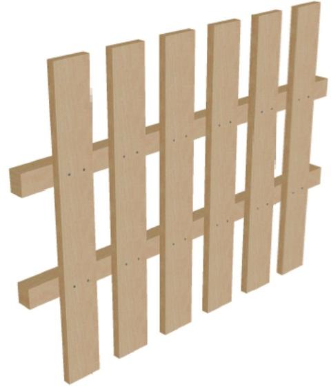 Забор на дачу высота 75 см
