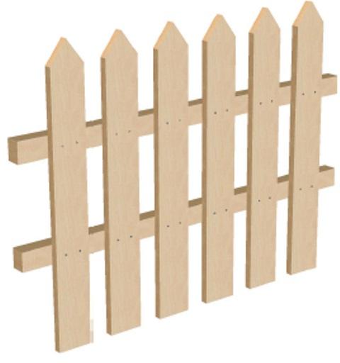 Забор для дачи высота 75 см