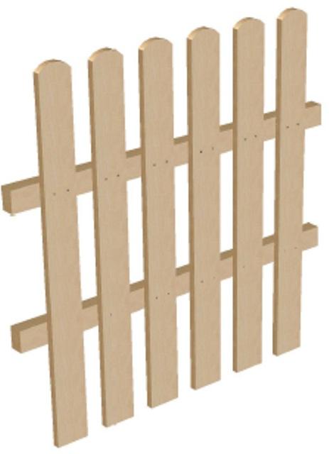 Штакетник деревянный высота 1 м