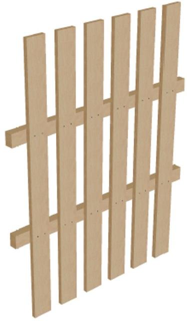 Ограждение деревянное высота 1,25 м