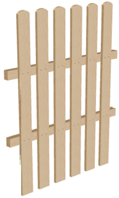 Забор высота 1,25 м