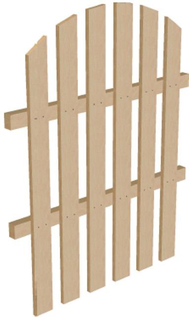 Готовый забор высота 1,25 м