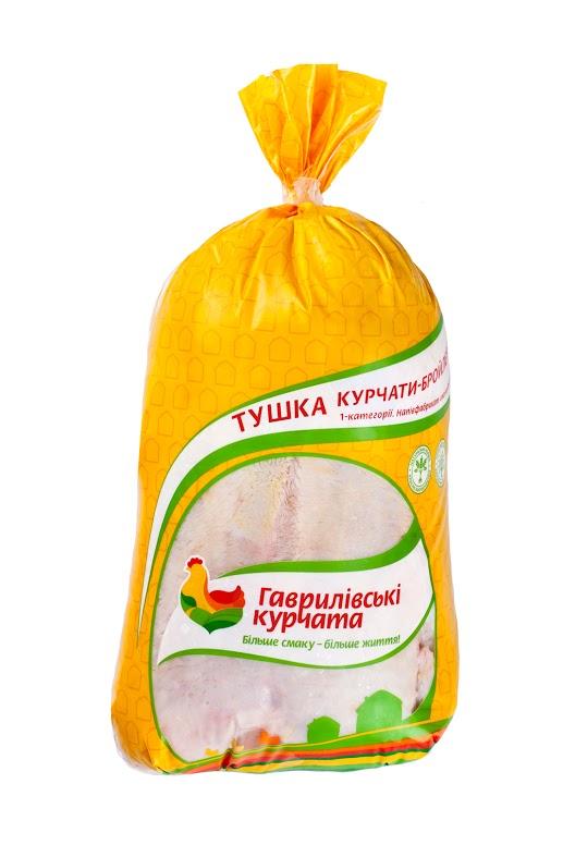 Тушка цыплят-бройлеров 1 категории потрошенная замороженная в индивидуальном полиэтиленовом пакете