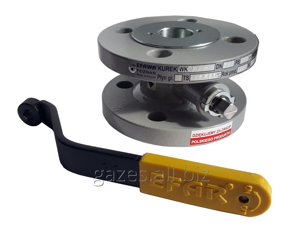 The crane sharovy EFAR (EFAWA) WK 2a dn32 for a car of gas, LPG, propane-butane, GNS, AGZS the valve flange full bore with compensation consolidation of a sphere.