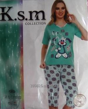 Купить Пижама женская (футболка с бриджами)