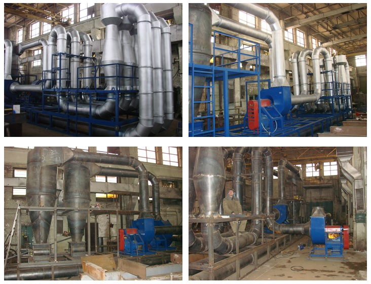 Installations for drying of sawdust of the EXPERT series