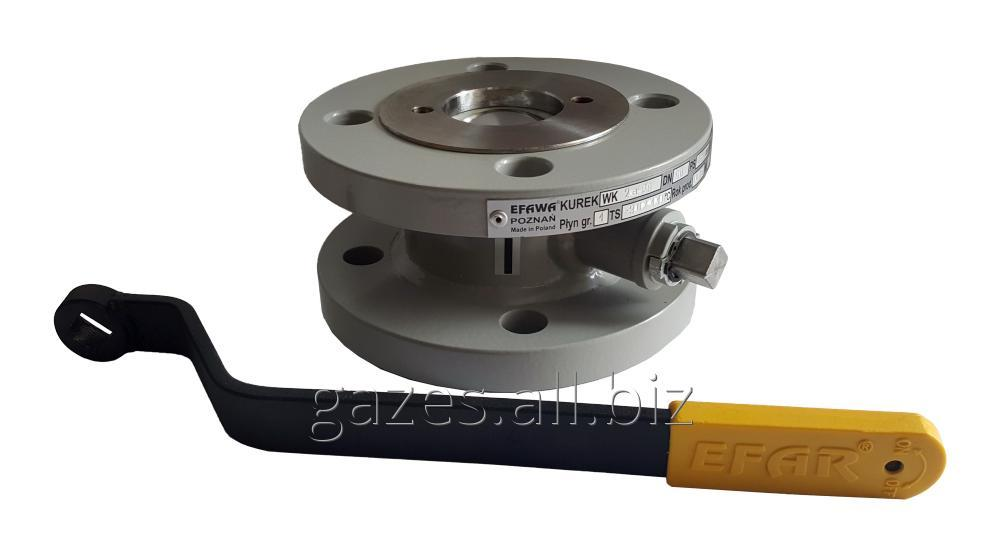 Кран шаровый EFAR (EFAWA) WK 2a dn50 для авто газа, LPG, пропан-бутана, ГНС, АГЗС клапан  фланцевый полнопроходной с компенсационным уплотнением шара.