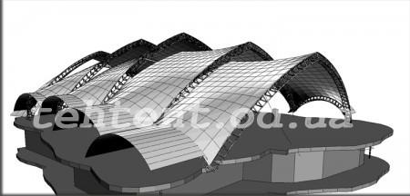 Тенты. Арочная композиция Саламандра