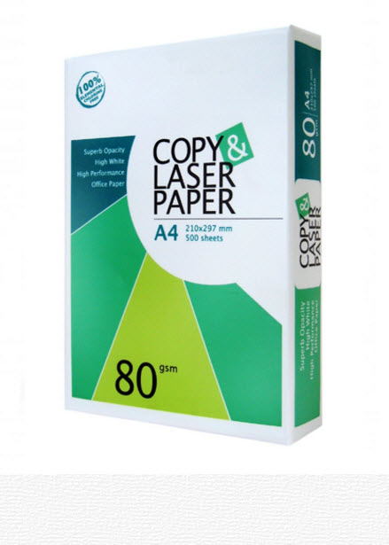 Копировальная бумага для лазерных принтеров Copy Laser Paper A4 80GSM