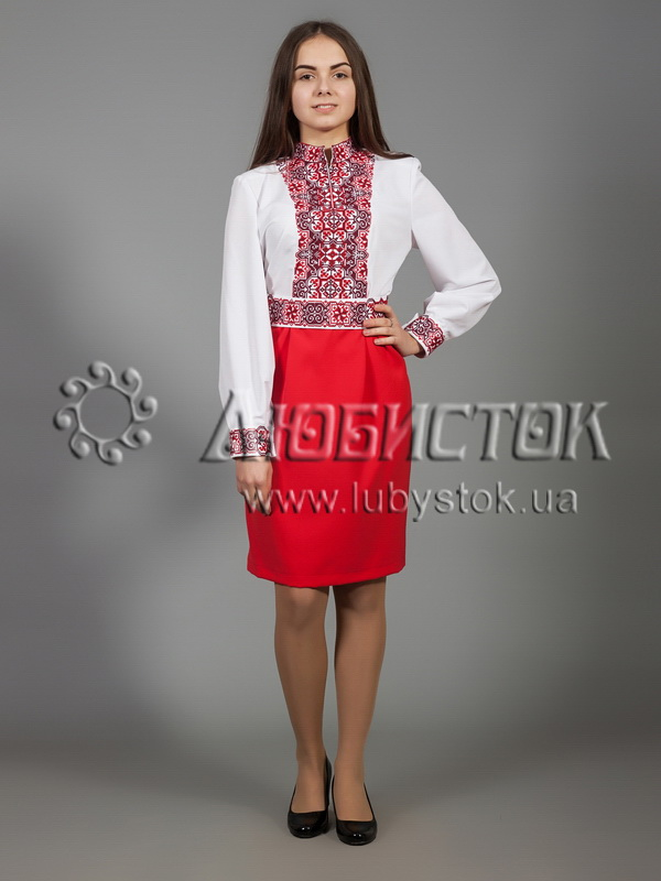 Buy The embroidered ZhPV 28-1 dress